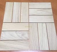 Мозаика деревянная из дуба, без покрытия № 5