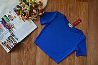 Короткий женский топ короткий рукав синий