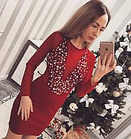 """Платье женское трикотажное с камнями """"Vendetta"""". Турция"""
