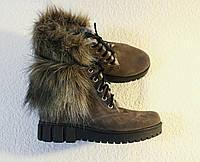 Зимние ботинки с меховой опушкой. Натуральный замш 0059