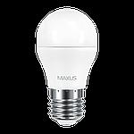LED лампа MAXUS G45 6W 3000K 220V E27 (1-LED-541), фото 2