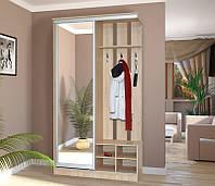 Мебель для прихожей Визит, шкаф купе в прихожую с открытой вешалкой 1200*2215*545