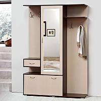 Шкаф с вешалкой для прихожей Грета 1400*2025*370 темный венге/свтлый венге