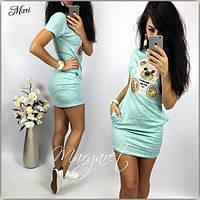Женское платье с мишкой М126