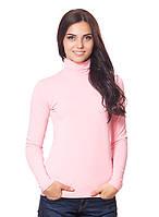 Розовая женская водолазка