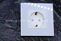 Розетка евро 16А стекло закаленное заземление, 3 цвета Smart Home выключатель с розеткой