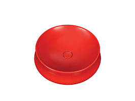 Раковина накладная керамическая NEWARC Elipso 50 (505050R) красный, б/п, (50 см.)