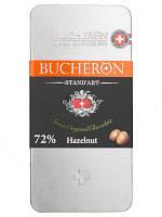 Шоколад Bucheron горький с фундуком 100 грамм в металлическом пенале