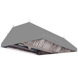 Зонт вентиляционный вытяжной островной 1900x1500x350