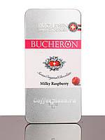 Шоколад Bucheron молочный с малиной  100 грамм в металлическом пенале