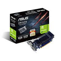 Видеокарта GeForce 210, Asus, 1Gb DDR3, 64-bit, VGA/DVI/HDMI, 589/1200MHz, Silent (210-SL-1GD3-BRK)