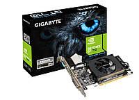 Видеокарта GeForce GT710, Gigabyte, 1Gb DDR3, 64-bit, VGA/DVI/HDMI, 954/1800MHz (GV-N710D3-1GL)