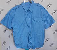 Форменная рубашка с коротким рукавом голубая женская