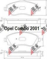 Тормозные колодки, передние на Opel Combo (01~) Опель Комбо. Диковый тормоз. Комплект 4шт.