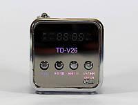 Портативная колонка SPS TD V26: micro SD/TF/USB, 150-18000 Гц, 3 Вт, FM радио, 5,1х5,1х8,3 см