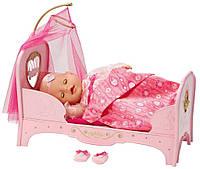 Интерактивная детская кровать Baby Born Сладкие сны принцессы Zapf, 819562