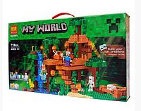 """Конструктор Bela My World """"Домик на дереве в джунглях"""" 10471 (аналог Lego Майнкрафт, Minecraft 21125), 718 дет"""