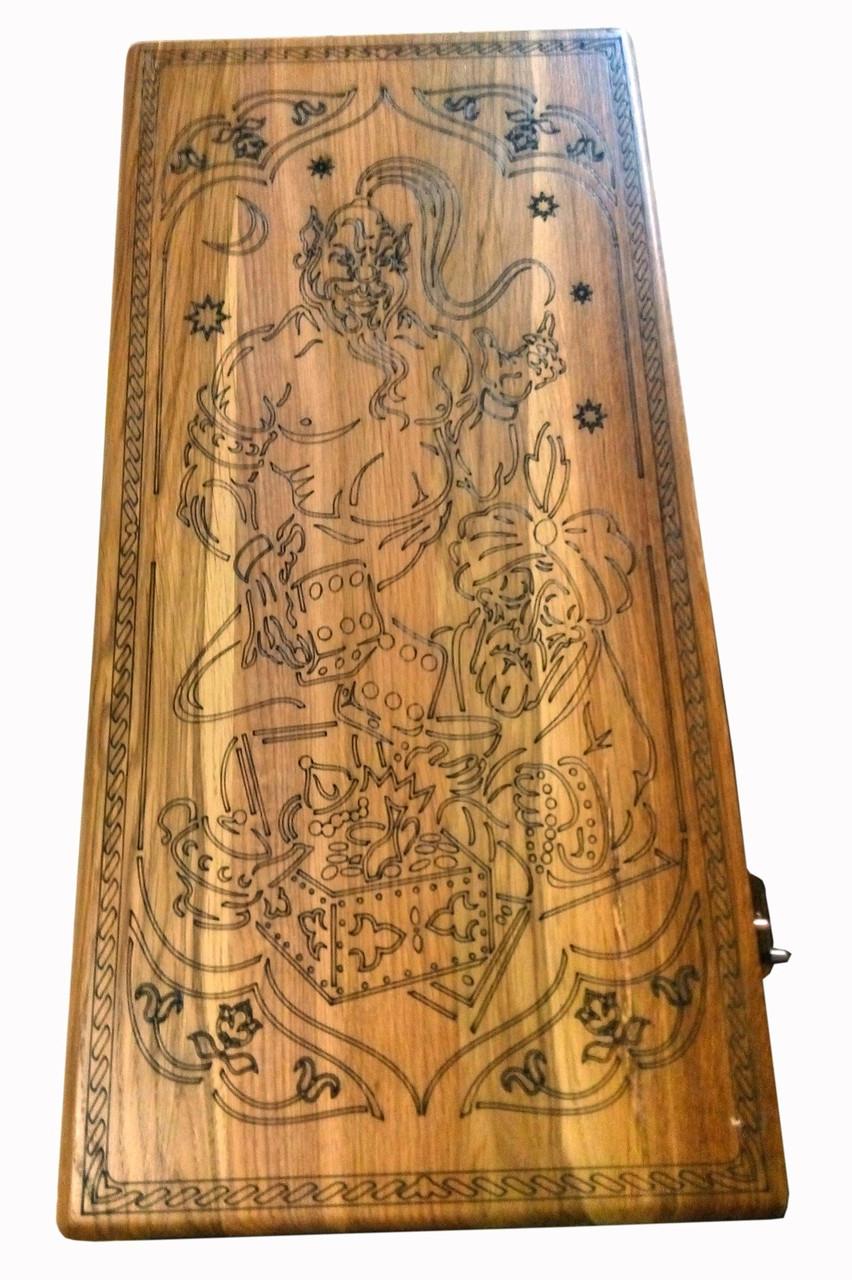 Нарды деревянные с узором