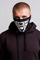 Бафф волк маска на лицо с принтом черная маска зимняя летняя