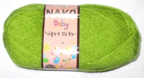 Пряжа Nako Baby, салатово-оливковая