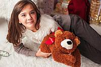 Мягкая игрушка Медвежонок Джек коричневый