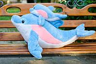 Мягкая игрушка Семейка Дельфинов 105 голубая