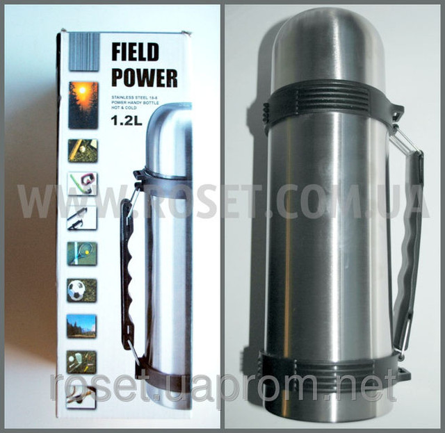 Туристический термос - Field Power 1.2 L (нержавейка)