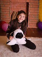 Мягкая игрушка Овечка (игрушка-подушка) черно-белая