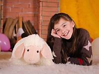 Мягкая игрушка Овечка (игрушка-подушка) кремовая