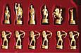 Шахматы в деревянном футляре с фигурами из латуни Лучники Manopoulos S15BLU синий, фото 2