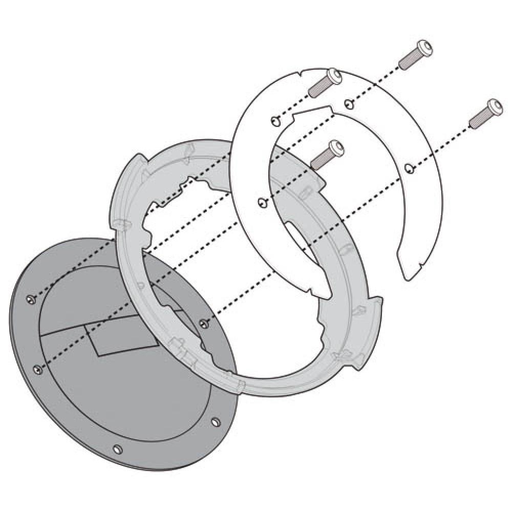 "Крепежное кольцо Kappa Tanklock для Honda Crosstourer 1200 ""14"