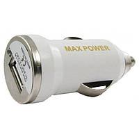Автомобильное зарядное устройство MaxPower Mini 1A White (33840)