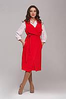 Удлиненный пиджак красный