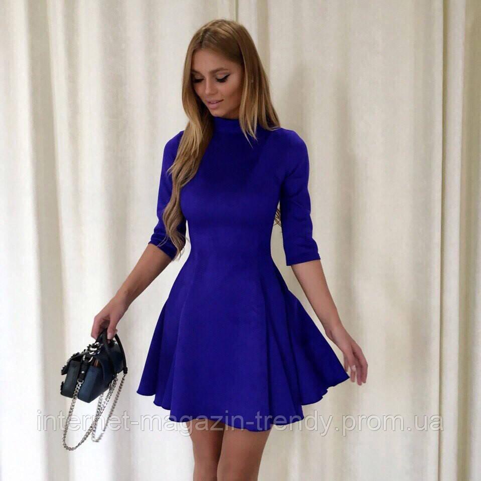 Платье мини из замши (3 цвета) 08270