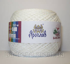 Пряжа для вязания белого цвета 100% хлопок