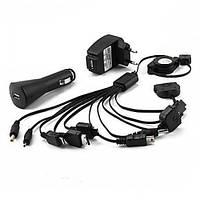 Набор адаптеров USB с рулеткой, для зарядки мобильных + 2 адаптера