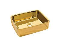 Раковина накладная керамическая NEWARC Silver countertop 51 (5011G) золото, б/п, (40*51*16)