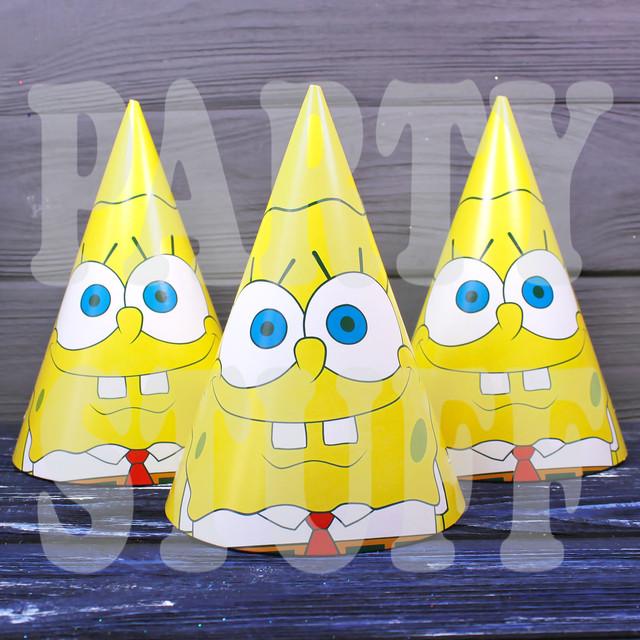 колпачки на праздник Губка Боб