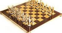 Шахматы в деревянном футляре с фигурами из латуни Олимпийские игры 54*54 см S17RED красный