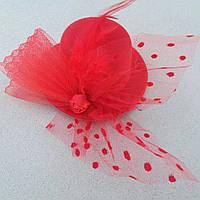 Заколка для волос Шляпка Большая Красная