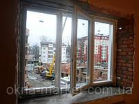 Трехстворчатое окно Salamander (Саламандер), монтаж бригады №5 в г.Ирпень.