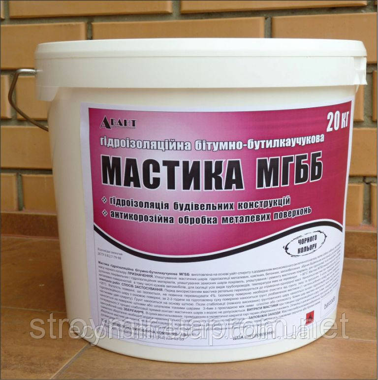 Мастика гидроизоляционная битум-бутилкаучуковая МГББ