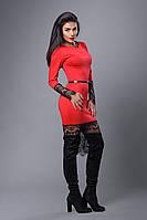 Платье мод №262-4, размеры 44,46,48 красное