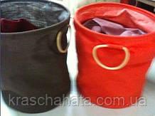 Корзина для белья, мешковина, Н40 см, D35 cм, декоры для дома, Днепропетровск Оранжевый