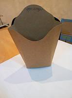 Упаковка из крафта. Картофель фри.