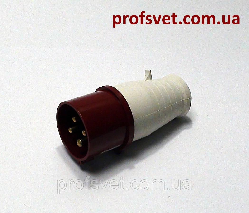 Вилка силова 16А РС-014 380в 3Р+РЕ 4 полюси