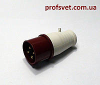 Вилка силовая 16А 4 штыря (3Р+РЕ) 380в IP44 РС-014