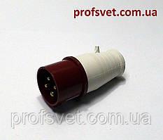 Вилка силовая 16А РС-014 380в 3Р+РЕ 4 полюса