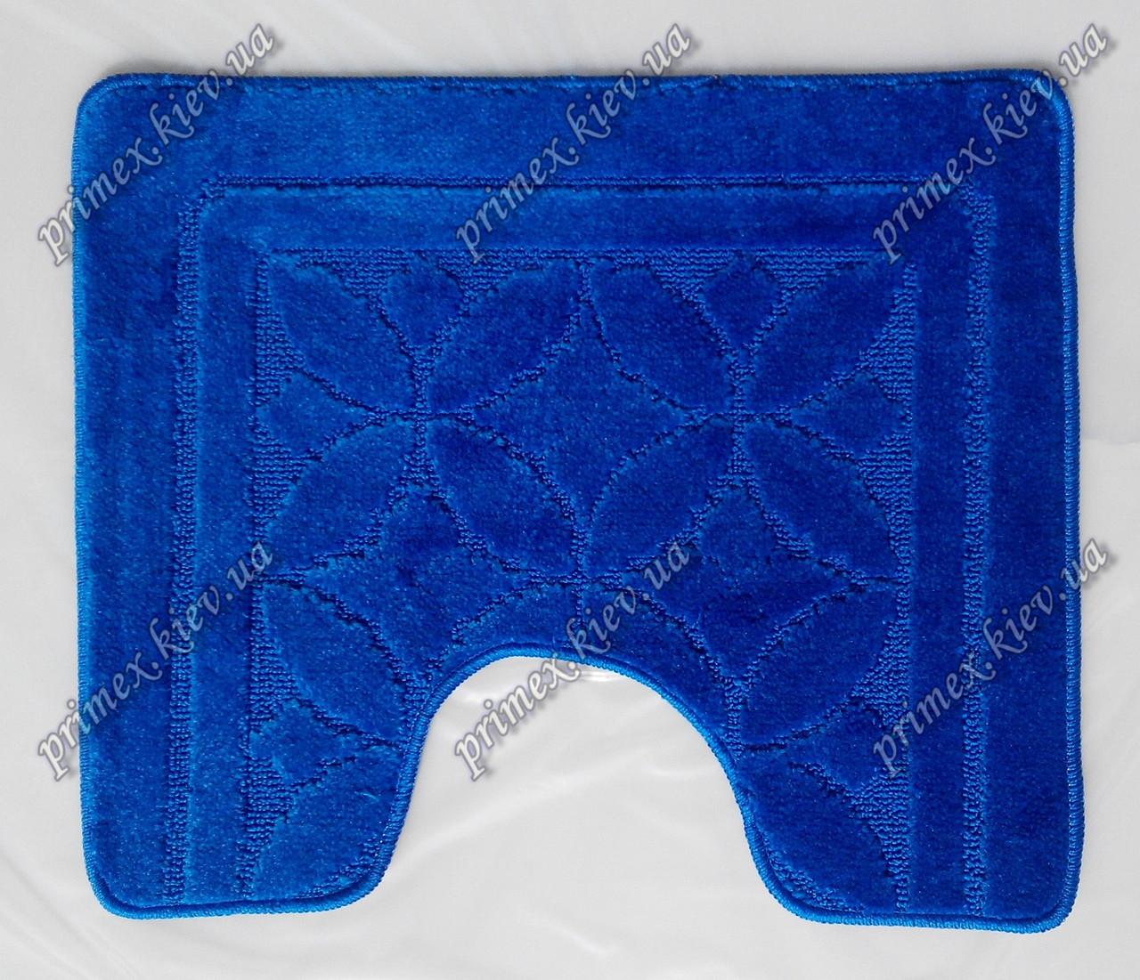 """Коврик для туалета 50х60 см """"Тритон """" с вырезом, цвет синий"""