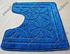 """Коврик для туалета 50х60 см """"Тритон """" с вырезом, цвет синий, фото 7"""